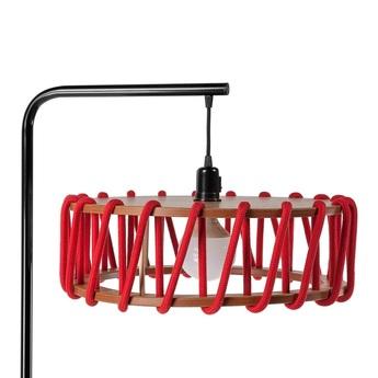 Lampadaire macaron l rouge et noir rouge l45cm h163cm emko normal