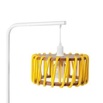 Lampadaire macaron s jaune et blanc jaune l30cm h163cm emko normal