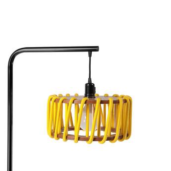 Lampadaire macaron s jaune et noir jaune l30cm h163cm emko normal