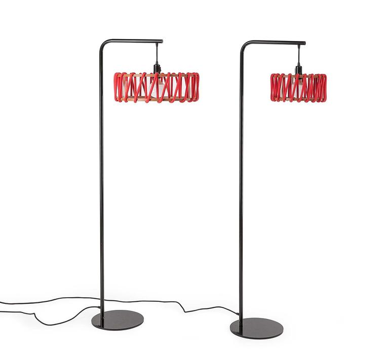 Macaron s rouge et blanc silvia cenal lampadaire floor light  emko wmcf30red  design signed nedgis 71950 product