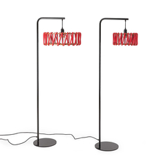 Macaron s rouge et blanc silvia cenal lampadaire floor light  emko wmcf30red  design signed nedgis 71950 thumb
