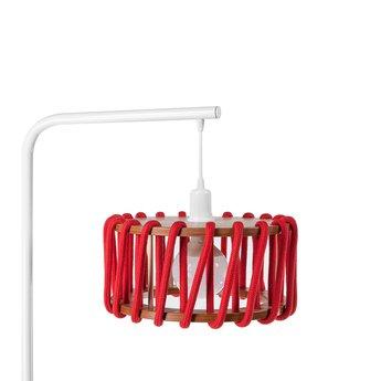 Lampadaire macaron s rouge et blanc rouge l30cm h163cm emko normal