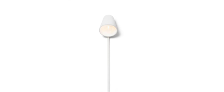 Lampadaire manana blanc l40cm h170cm design house stockholm normal