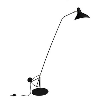 Lampadaire mantis bs1 b noir o29cm h155cm dcw editions normal