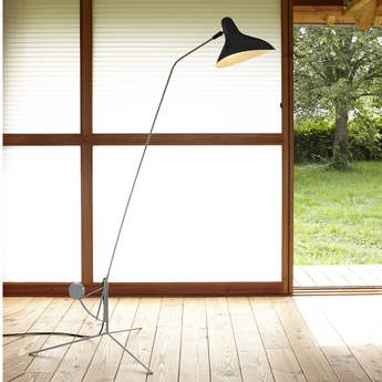 Lampadaire mantis bs1 gris vert o74cm h155cm dcw editions normal