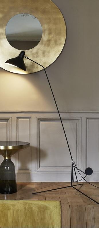 Lampadaire mantis bs1 noir o74cm h155cm dcw editions normal