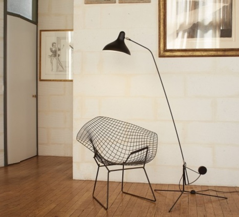 Mantis bs1 bernard schottlander  lampadaire floor light  dcw editions bs1 bl  design signed nedgis 65405 product