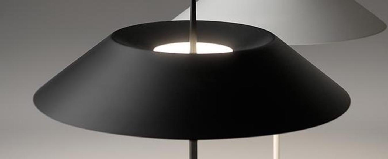 Lampadaire mayfair noir led 2700k 417lm o30cm h147cm vibia normal