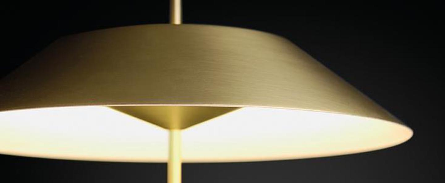 Lampadaire mayfair or satine led 2700k 417lm o30cm h147cm vibia normal