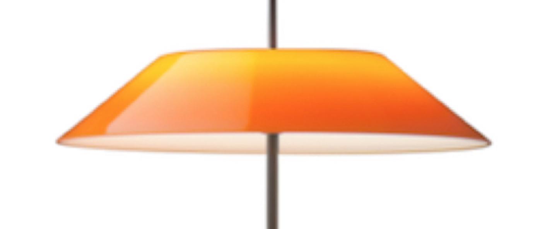 Lampadaire mayfair orange led 2700k 484lm o30cm h147cm vibia normal