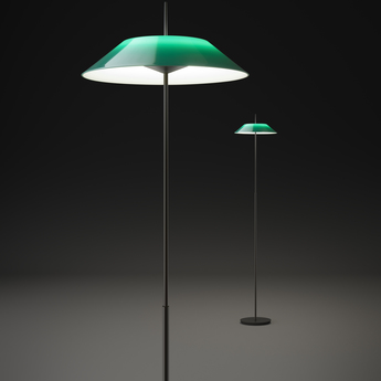 Lampadaire mayfair vert led 2700k 484lm o30cm h147cm vibia normal