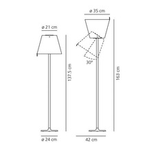 Melampo adrien gardere lampe a poser table lamp  artemide 0315020a  design signed 79556 thumb