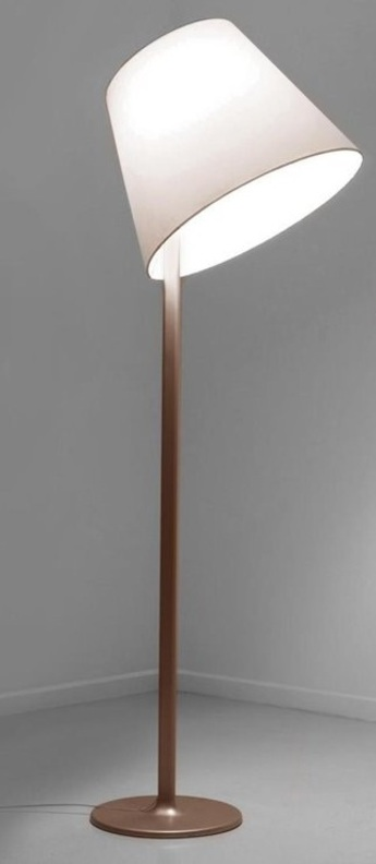 Lampadaire melampo bronze o35cm h174cm artemide normal
