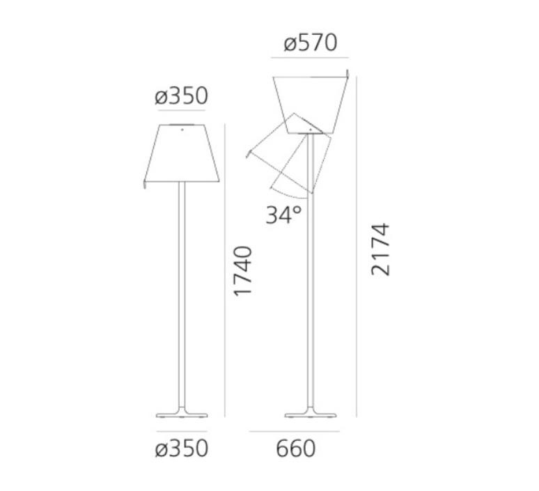 Melampo mega  lampadaire floor light  artemide 0577010a  design signed nedgis 119253 product