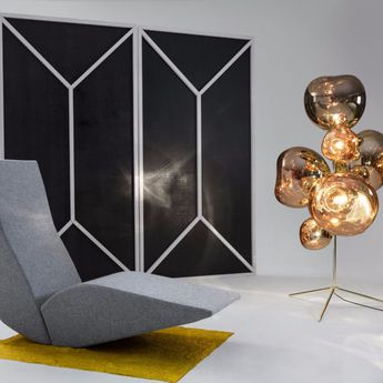 Lampadaire melt or l85cm h175cm tom dixon normal