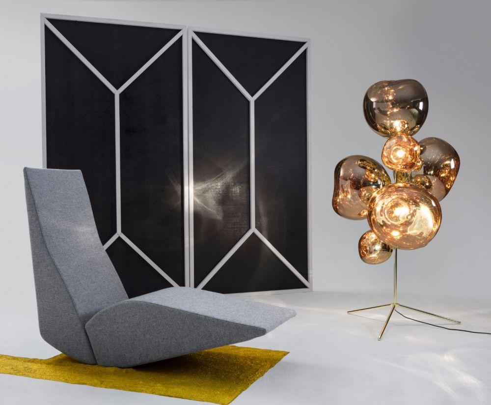 Floor Light Melt Gold L85cm H175cm Tom Dixon
