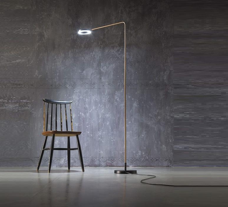 Meta franco zavarise zava meta lampadaire burnished brass luminaire lighting design signed 17496 product