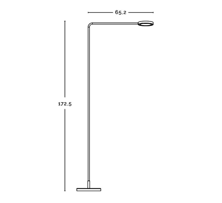Meta franco zavarise zava meta lampadaire burnished brass luminaire lighting design signed 17497 product