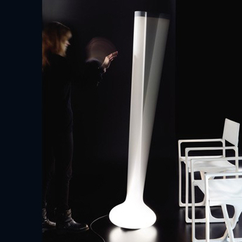 Lampadaire michel boucquillon blanc h175cm martinelli luce normal
