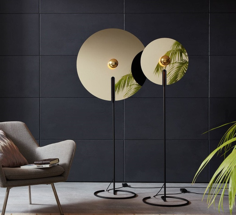 Mirro floor 2 0 13 9 design lampadaire floor light  wever et ducre 6311e8nb0  design signed nedgis 67397 product