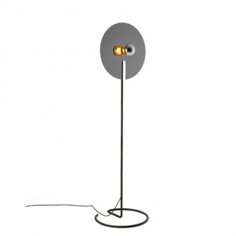 Lampadaire mirro floor 2 0 chrome o45cm h157 5cm wever ducre normal