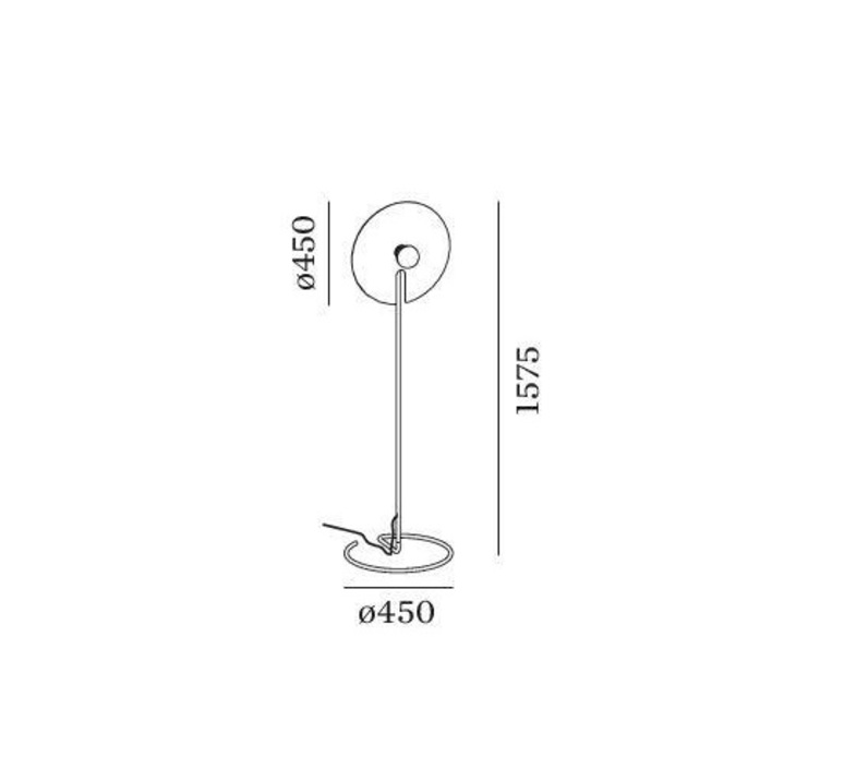 Mirro floor 2 0 13 9 design lampadaire floor light  wever et ducre 6311e8gb0  design signed nedgis 67394 product
