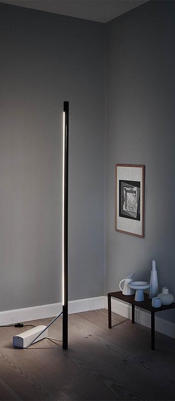 Lampadaire model 1063 noir et blanc led 2700k a 5000k 2500lm l46cm h215cm astep normal