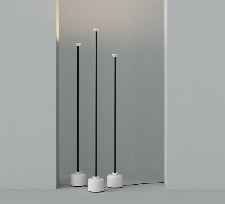 Model 1095 1700 gino sarfatti lampadaire floor light  astep t06 f12 010b  design signed nedgis 78845 product