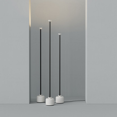 Model 1095 1700 gino sarfatti lampadaire floor light  astep t06 f12 010b  design signed nedgis 78845 thumb