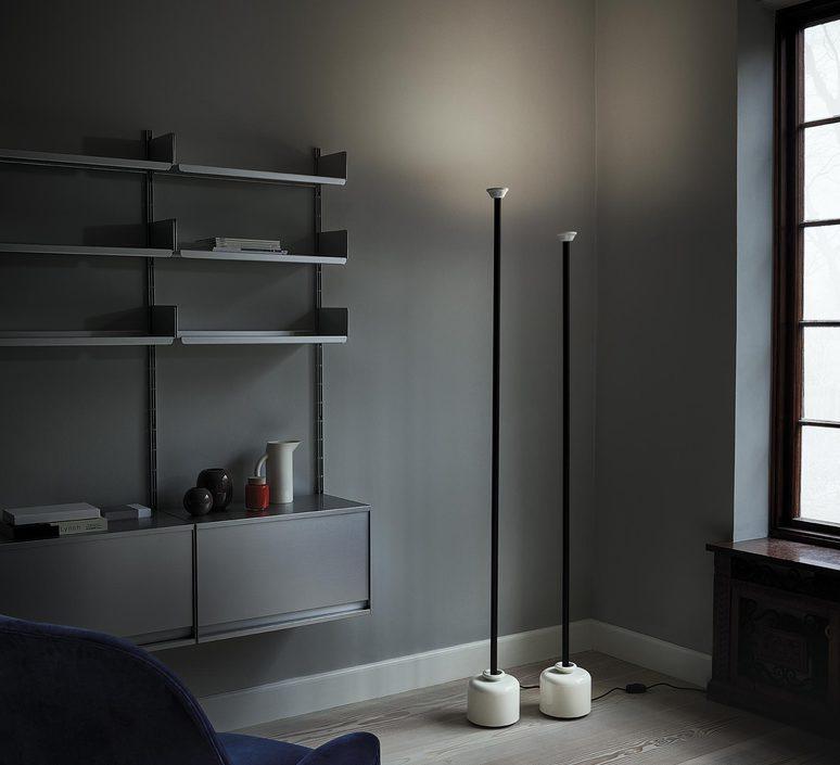Model 1095 1700 gino sarfatti lampadaire floor light  astep t06 f12 010b  design signed nedgis 78848 product