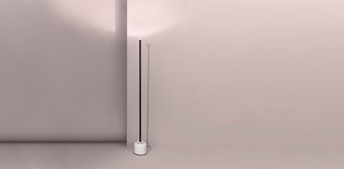 Lampadaire model 1095 1850 noir et blanc led 2700k 1850lm o20cm h185cm astep normal