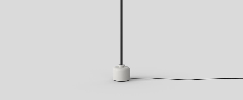 Lampadaire model 1095 2000 noir et blanc led 2700k 1850lm o20cm h200cm astep normal