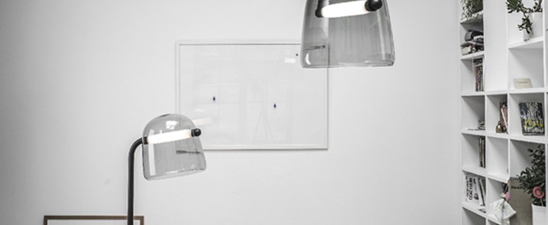 Lampadaire mona large gris noir led o50cm h140cm brokis normal