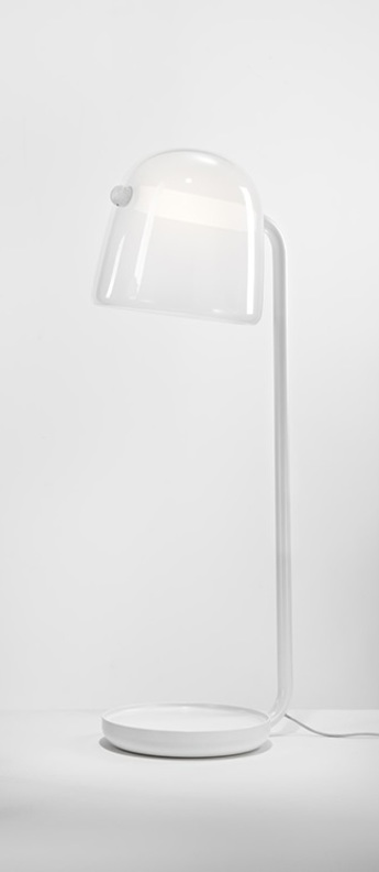 Lampadaire mona large opale blanc led o50cm h140cm brokis normal