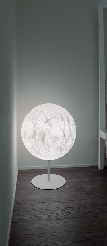 Lampadaire moon f blanc o60cm h85cm davide groppi normal