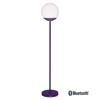 Lampadaire mooon aubergine violet led 6000 650 o25cm h134cm fermob normal