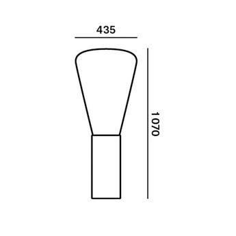 Lampadaire muffins chene cire verre transparent h101 6cm o43 5cm brokis normal
