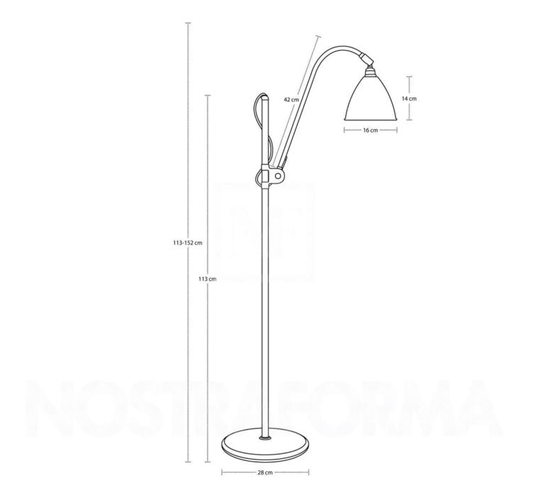 Multi lite bl3 small  lampadaire floor light  gubi 001 03140   design signed 39560 product