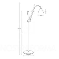 Multi lite bl3 small  lampadaire floor light  gubi 001 03101   design signed 39559 thumb