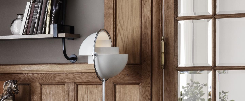 Lampadaire multi lite blanc chrome o36cm h148cm gubi normal