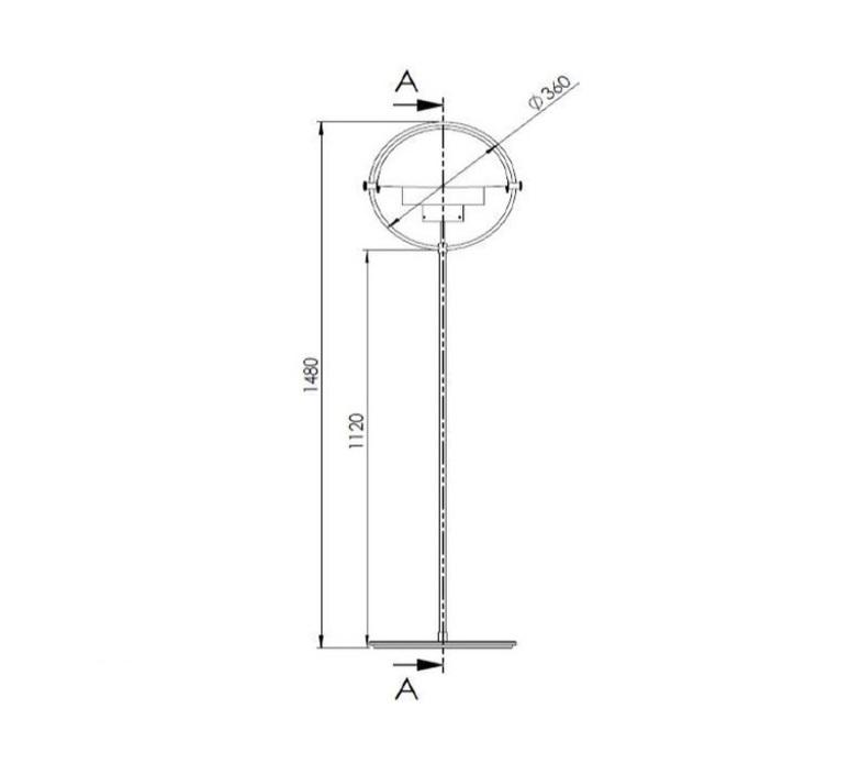 Multi lite louis weisdorf lampadaire floor light  gubi 007 04102   design signed 47562 product