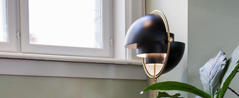 Lampadaire multi lite noir et or o36cm h148cm gubi normal