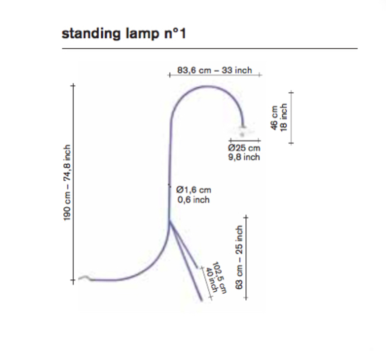 N 1 muller van severen lampadaire floor light  serax v9015013z  design signed 69949 product