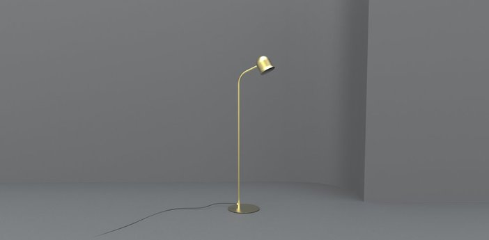 Lampadaire narciso or o13 7cm h130 6cm torremato normal