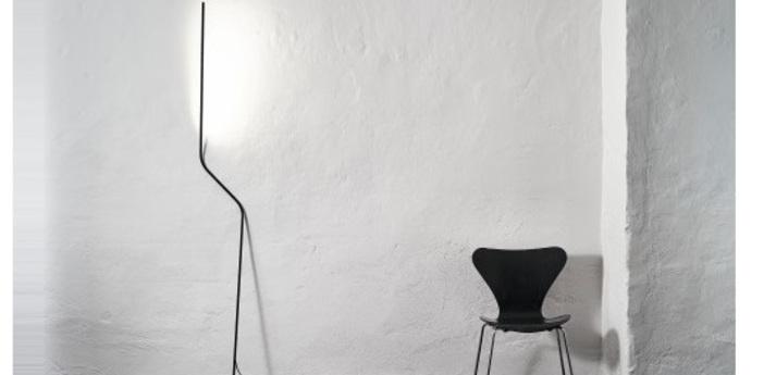 Lampadaire neo noir led 2700k 540lm p30cm h200cm nemo lighting normal