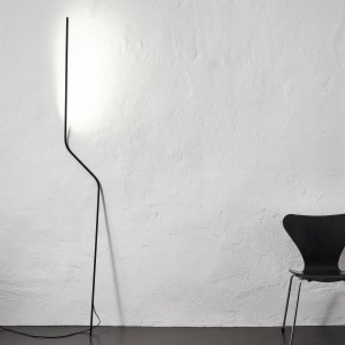 Lampadaire neo noir led 2700k 540lm p30cm h200cm nemo lighting normal