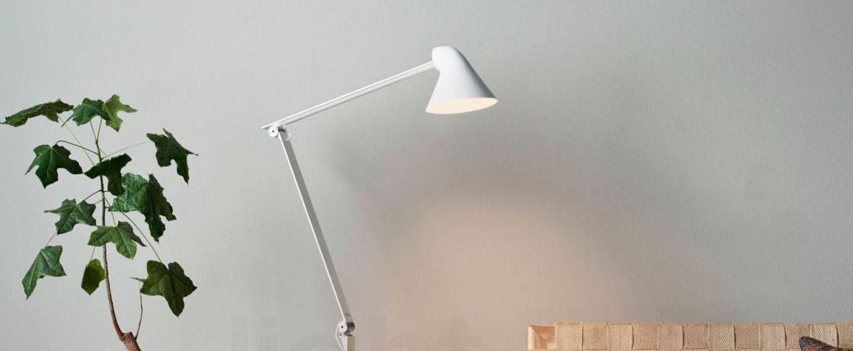 Lampadaire njp blanc led l121cm h48cm louis poulsen normal