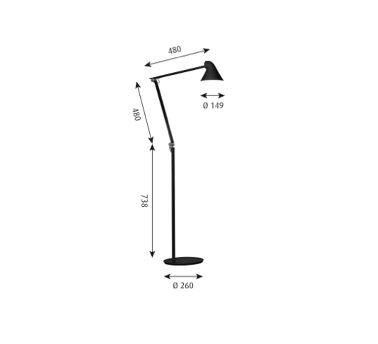 Njp studio nendo lampadaire floor light  louis poulsen 5744165138  design signed 49198 product