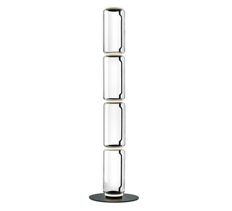 Noctambules floor 4 cylindres hauts grande base  konstantin grcic lampadaire floor light  flos f0292000  design signed nedgis 96576 product