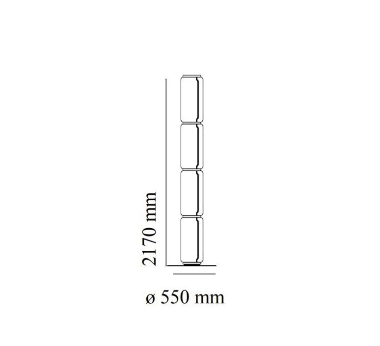Noctambules floor 4 cylindres hauts grande base  konstantin grcic lampadaire floor light  flos f0292000  design signed nedgis 96580 product